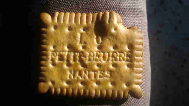 [image: a bad LU petit beurre biscuit - recto]