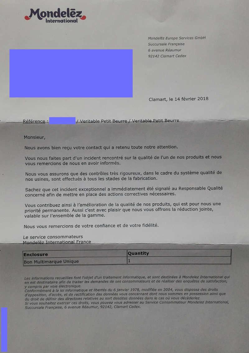 [image: letter from Mondelez]