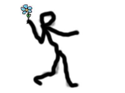 [image: someone throwing a flower]